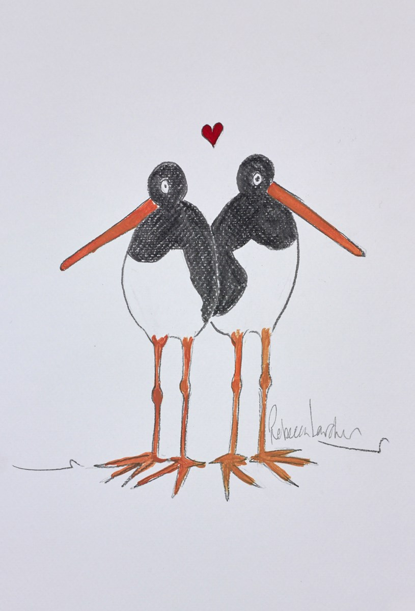 Two Lovebirds Sketch IV